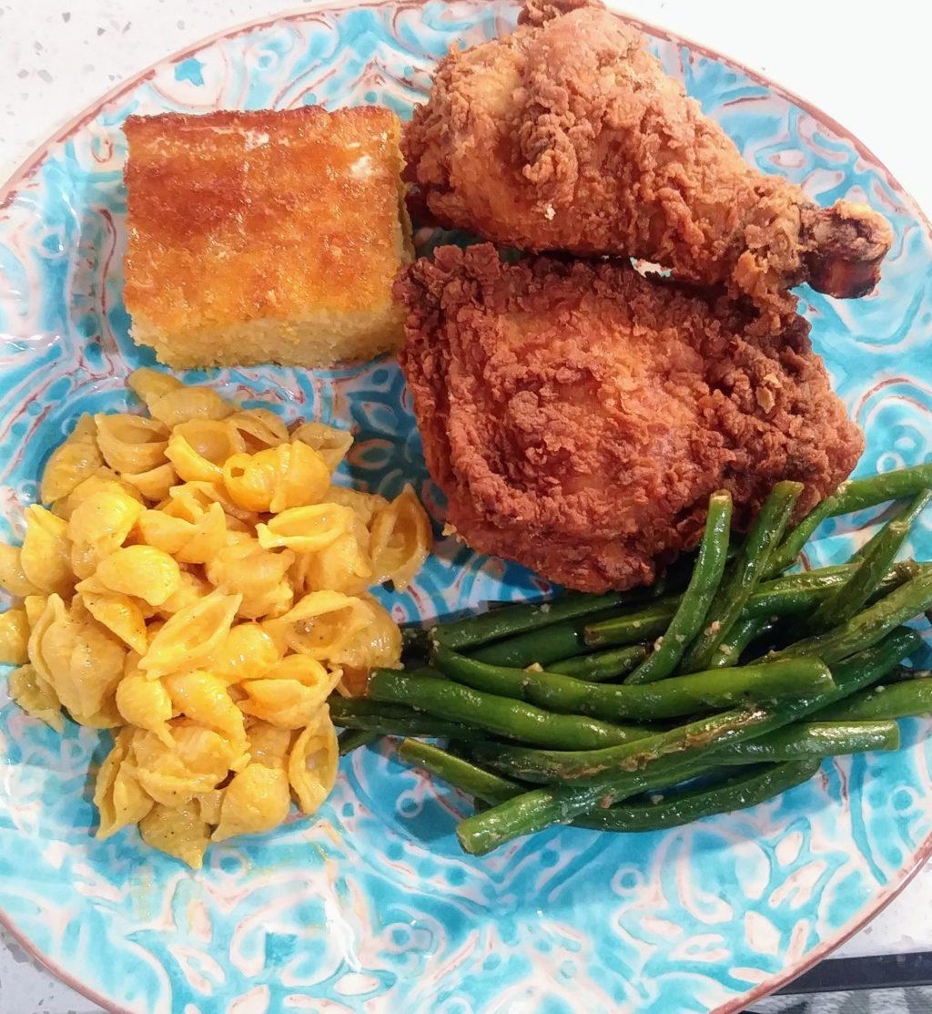Southern Fried Chicken w/Homemade Cornbread