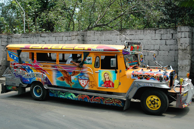 a bus in the Phillipines