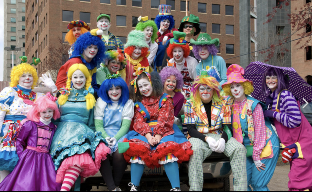 clowns downtown group photo
