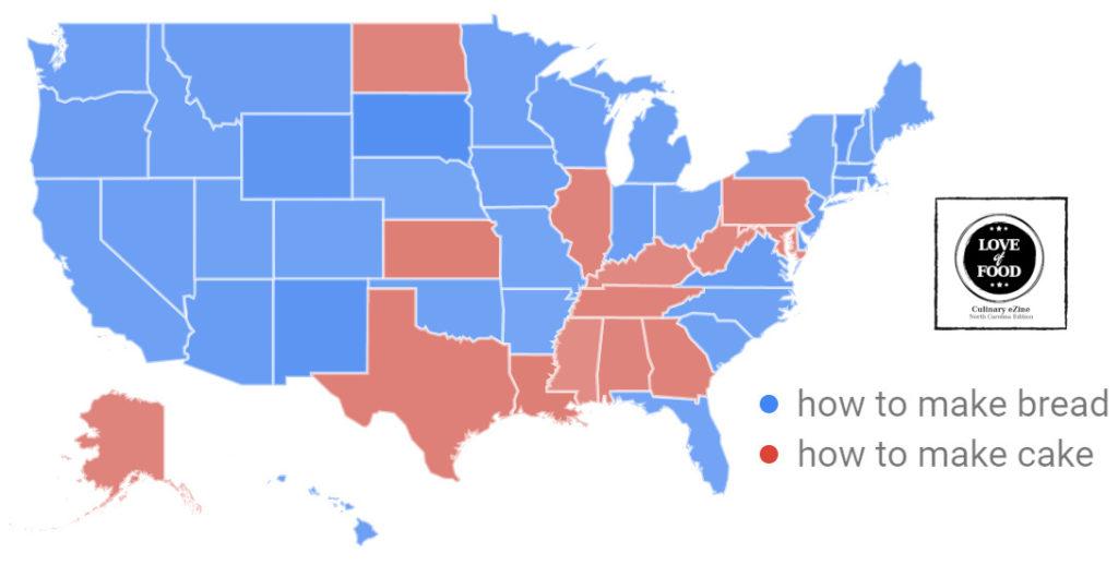 data map baking united states during quarantine 2020
